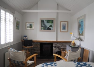 Annexe remodelled main area seating and fireplace
