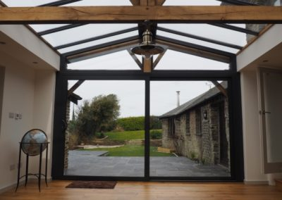 Garden room looking out